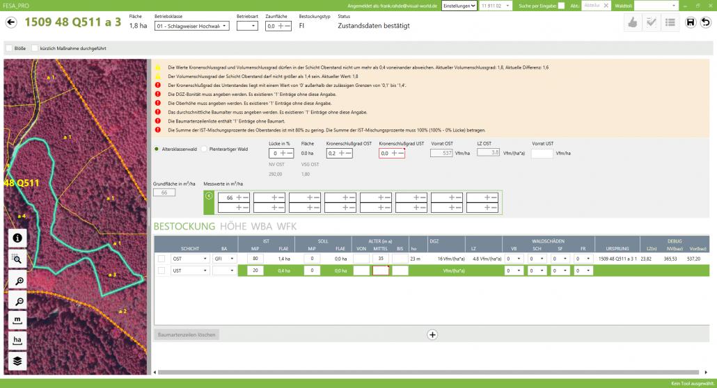 Screenshot Referenz Softwareentwicklung Sachsenforst Verwaltungssoftware