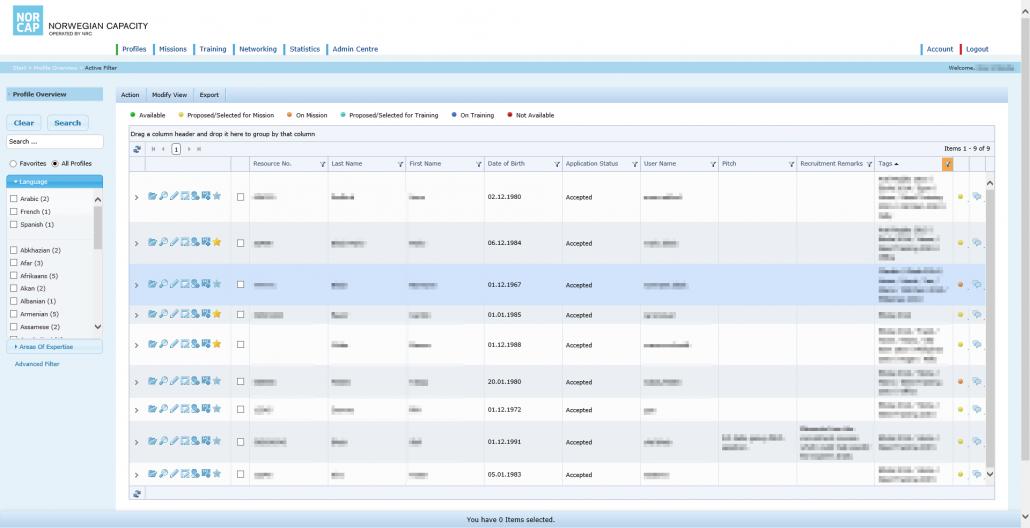 Screenshot Referenz Softwareentwicklung NRC Verwaltungsportal